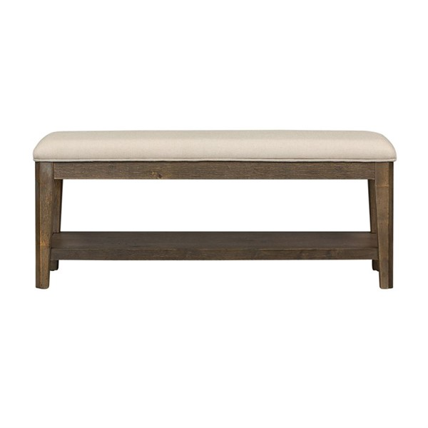 Liberty Artisan Prairie Aged Oak Gray Cream Bench LBRT-823-C9001B