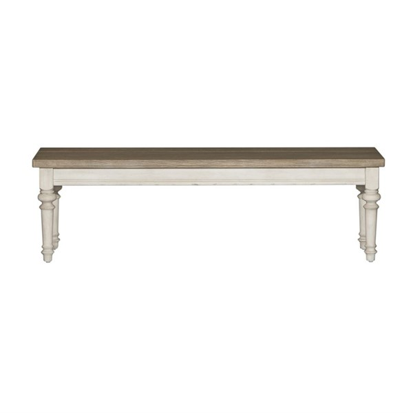 Liberty Heartland Antique White Tobacco Bench LBRT-824-C9000B