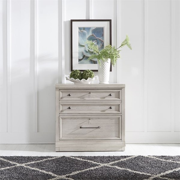 Liberty Harvest Home White Bunching Lateral File Cabinet LBRT-979-HO147