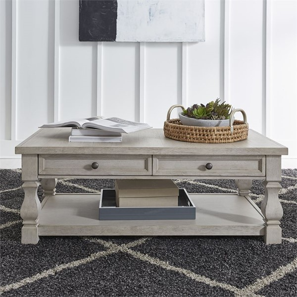 Liberty Harvest Home White Cocktail Table LBRT-979-OT1010
