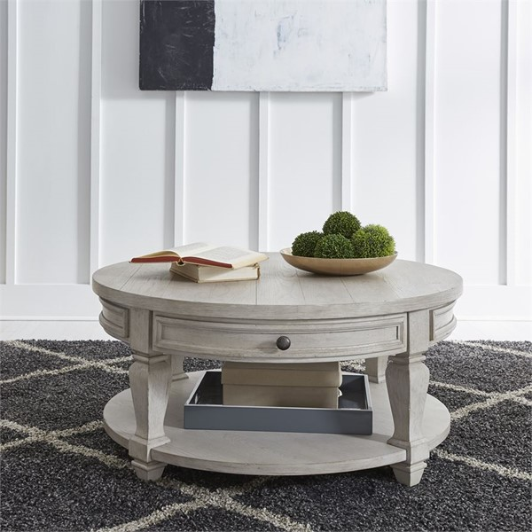 Liberty Harvest Home White Round Cocktail Table LBRT-979-OT1011