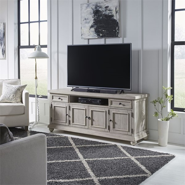 Liberty Harvest Home White 66 Inch TV Console LBRT-979-TV66