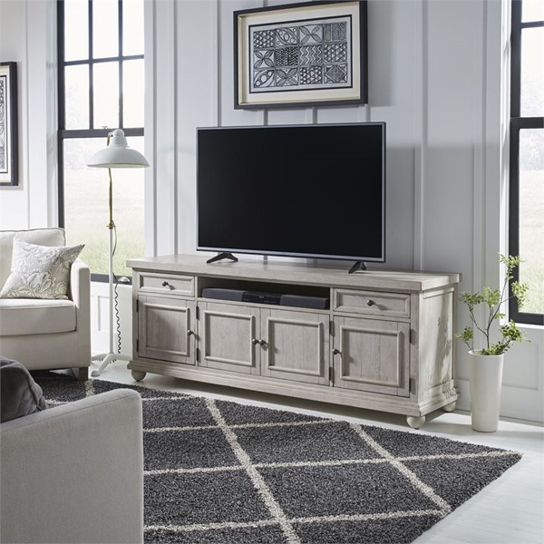 Liberty Harvest Home White 75 Inch TV Console LBRT-979-TV75