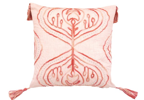 Lea Unlimited Coral Tie Dyed Cardiff Square Accent Pillow LEA-82820
