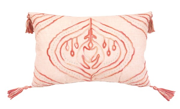 Lea Unlimited Coral Tie Dyed Cardiff Rectangle Accent Pillow LEA-82830