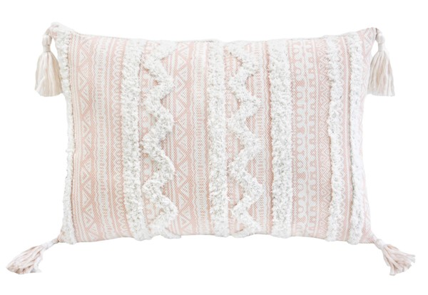 Lea Unlimited Beige Corded Apache Embroidered Decorative Throw Pillow LEA-83330