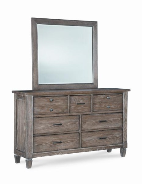 Brownstone Village Casual Oak Aged Patina Wood Dresser LGC-2760-1200