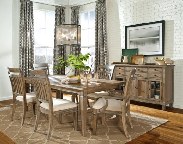 Brownstone Village Casual Oak 7pc Dining Room Set LGC-2760-SET2