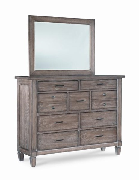 brownstone village casual oak bureau and mirror the classy home. Black Bedroom Furniture Sets. Home Design Ideas