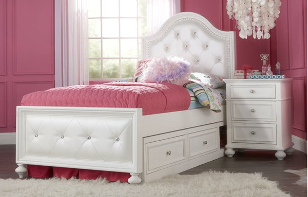 Legacy Kids Madison Natural White Full Bed with Underbed Storage Drawer LGC-2830-4704-SD