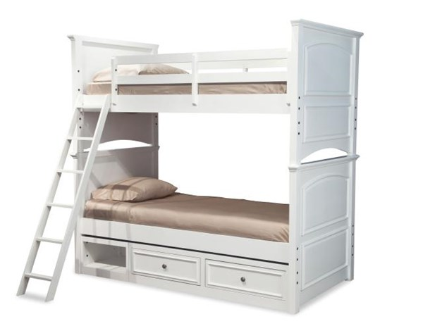 Madison White Poplar Solid Wood Twin/Twin Drawer Storage Bunk Bed LGC-2830-8110-TBBDS