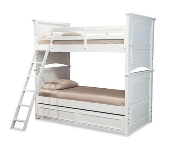 Madison White Poplar Solid Wood Twin/Twin Trundle Storage Bunk Bed LGC-2830-8110-TBBS