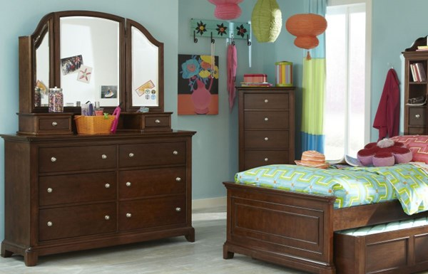 Impressions Lifestyle Clear Cherry Vertical Dresser and Mirror LGC-2880-1100-6201