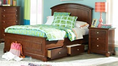 Impressions Youth Clear Cherry Wood Full Panel Bed LGC-2880-4104K-FPDSB