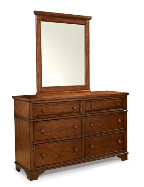 Dawsons Ridge Country Heirloom Cherry Dresser and Mirror LGC-2960-0100-DR-MR