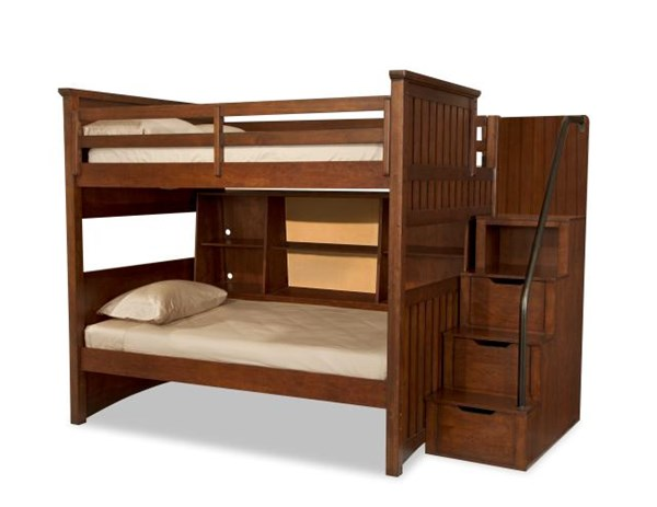Dawsons Ridge Country Cherry Full/Twin Bunk w/Bedside Storage LGC-2960-8508K-FOTSLB