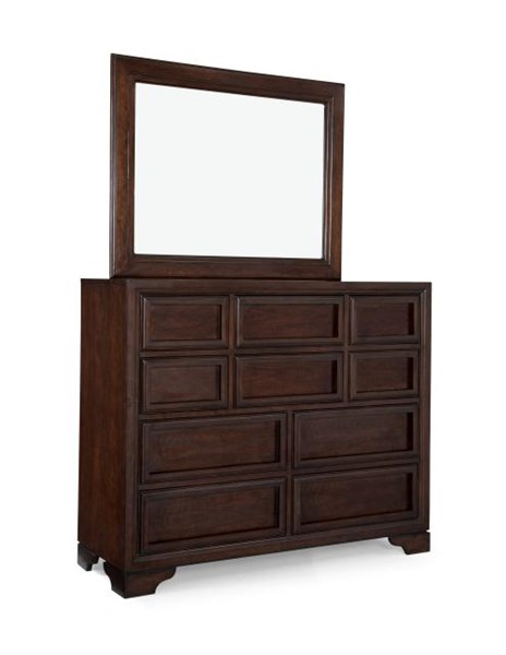 Benchmark Transitional Lifestyle Cherry Bureau and Mirror LGC-2970-1500-DR-MR