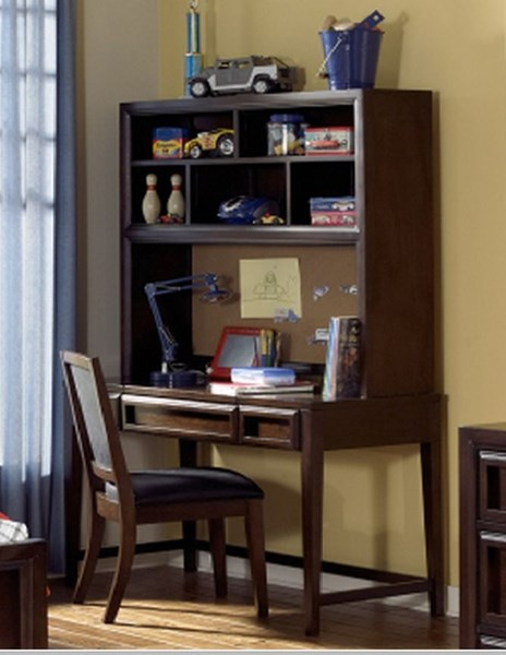 Benchmark Transitional Lifestyle Cherry Desk Hutch w/Chair LGC-2970-6100-6200-640