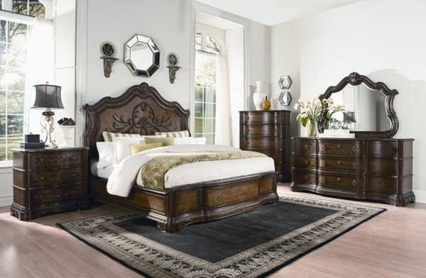 Pemberleigh Gracious Living Walnut 2pc Bedroom Sets W/Queen Panel Bed LGC-3100-4105K-PQB-S