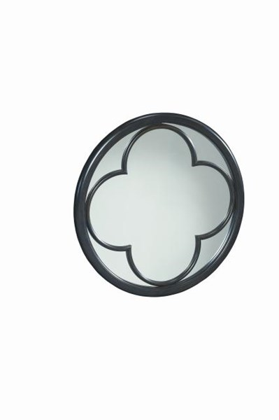 Westerly Casual Contemporary Walnut Round Accent Mirror LGC-3424-0800