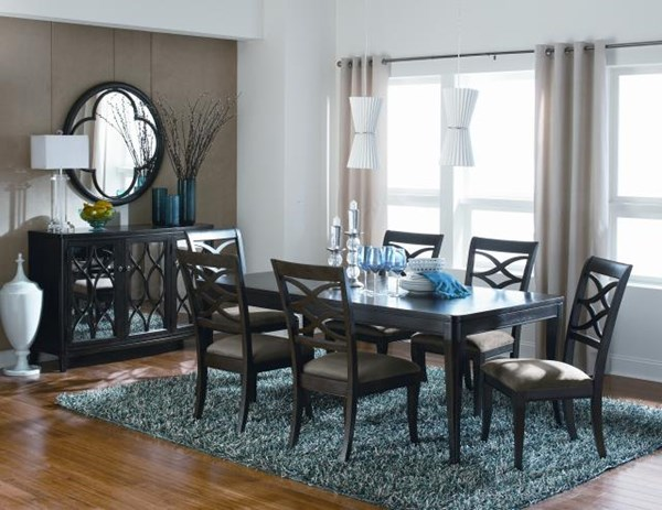 Westerly Casual Contemporary Walnut Dining Room Set LGC-3424-240-121-DT