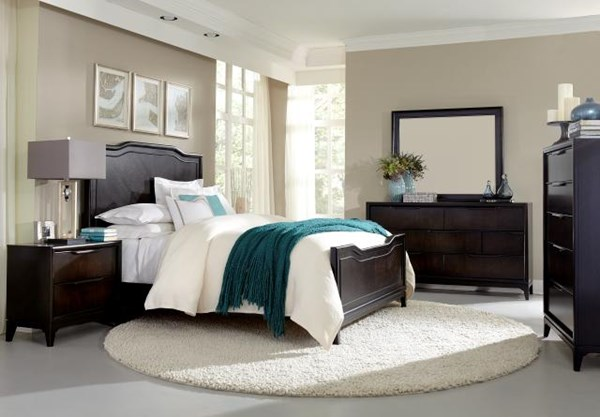Palisades Contemporary Cola Wood 5pc Bedroom Set w/Cal King Panel Bed LGC-3480-BR-S3