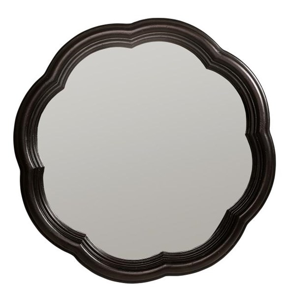 Haven Cottage Blackberry Wood Scalloped Accent Mirror LGC-3511-0800