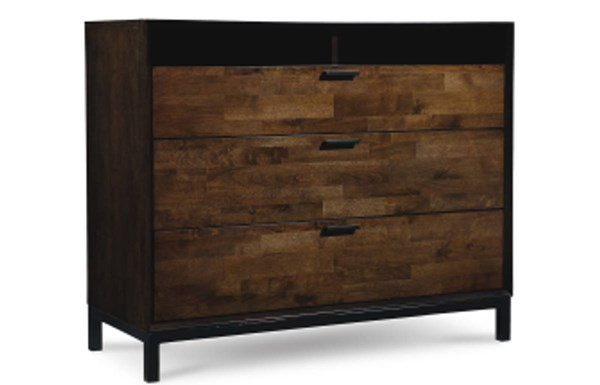 Kateri Contemporary Hazelnut Wood Media Chest LGC-3600-2800