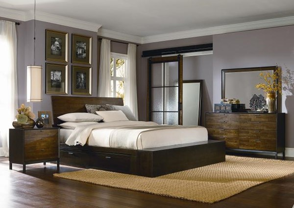 Kateri Hazelnut Wood 5pc Bedroom Set W/Cal King Storage Platform Bed LGC-3600-4767K-OUSCKB-S1