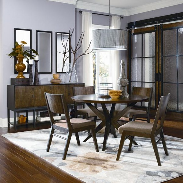 Kateri Contemporary Hazelnut Wood Dining Room Set LGC-3600-520-DT