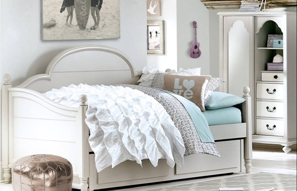 Legacy Kids Inspirations by Wendy Bellissimo Mist Twin Panel Trundle Daybed LGC-3830-5601K-TD