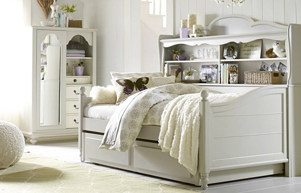 Inspirations By Wendy Bellissimo Twin Bookcase Daybed w/Trundle LGC-3830-5602K-TD