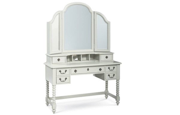 Legacy Kids Inspirations by Wendy Bellissimo Mist Boutique Desk with Vanity Mirror LGC-3830-6100-VNT