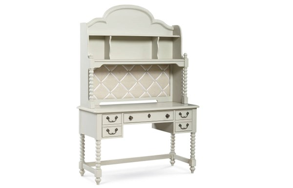 Inspirations By Wendy Bellissimo Mist Wood Boutique Desk w/Hutch LGC-3830-6100-6200