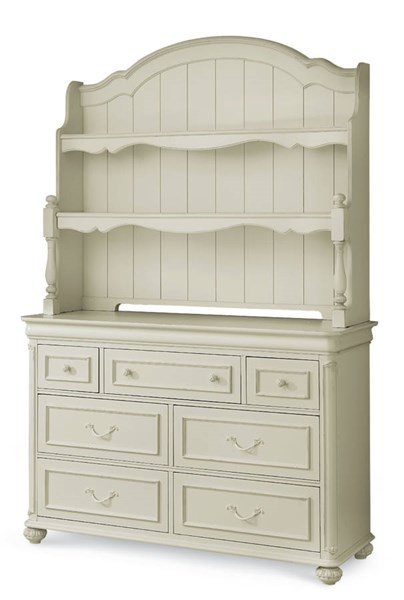 Charlotte Traditional Antique White Wood Dresser w/Hutch LGC-3850-1100-7201