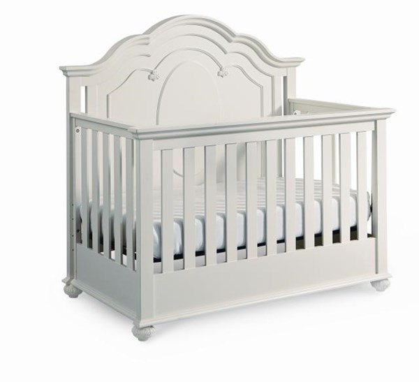 Charlotte Traditional Antique White Wood Grow With Me Convertible Crib LGC-3850-8900