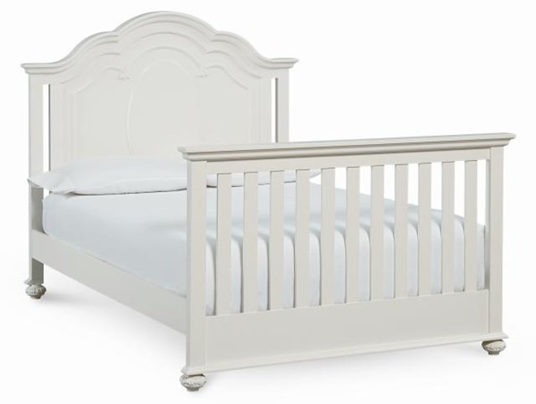 Charlotte Traditional Antique White Wood Full Bed w/Convertible Crib LGC-3850-8930-BED
