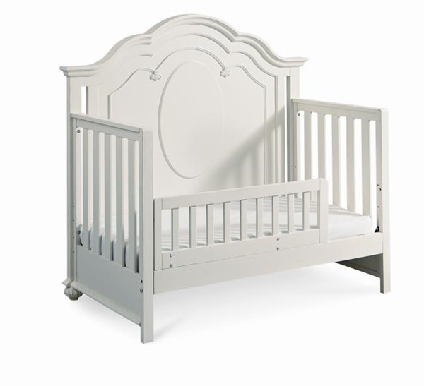 Charlotte Traditional Antique White Wood Toddler Daybed & Guard Rail LGC-3850-8920