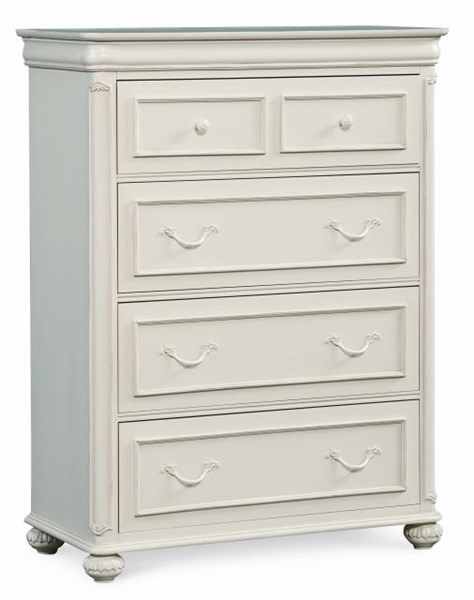Charlotte European Traditional/Princess Antique White Drawer Chest LGC-3850-2200