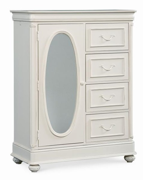 Charlotte European Traditional/Princess Antique White Door Chest LGC-3850-2500