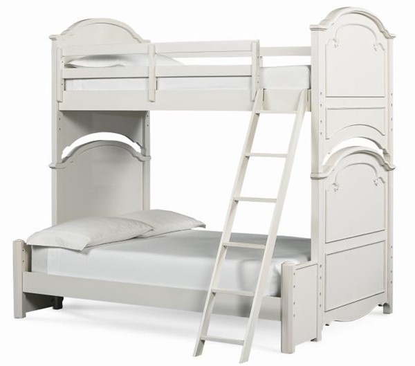 Legacy Furniture Charlotte White Twin Over Full Bunk Bed LGC-3850-8140K