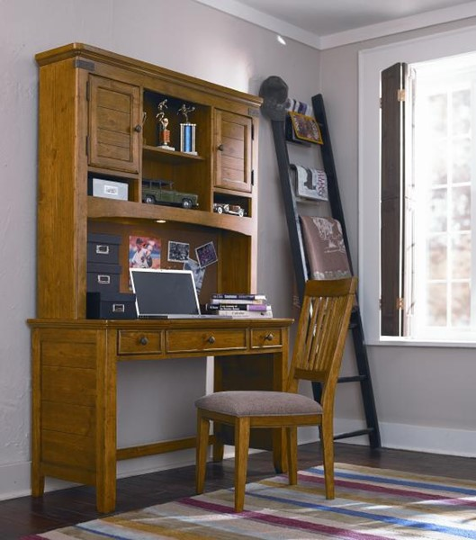 Bryce Canyon Traditional Pine Wood Desk Hutch W/chair LGC-3900-6100-6200-640
