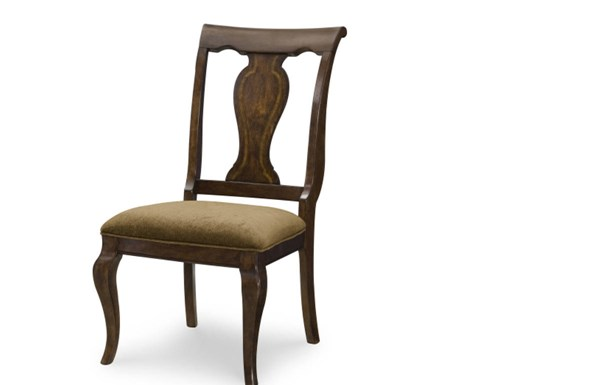 2 Irving Park Traditional Brandy Wood Splat Back Side Chairs LGC-4100-140KD