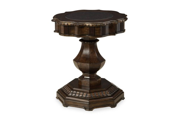 La Bella Vita Brown Wood Chairside Table LGC-4200-107