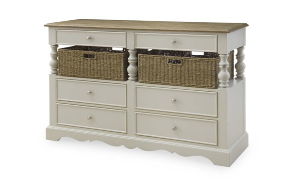 Sanibel Casual Wood Sideboard W/Driftwood Color LGC-4330-180