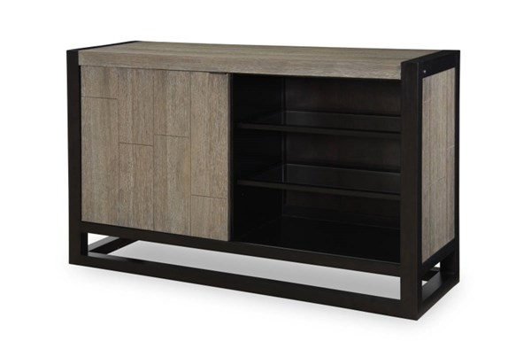 Helix Contemporary Charcoal Wood Credenza LGC-4660-151