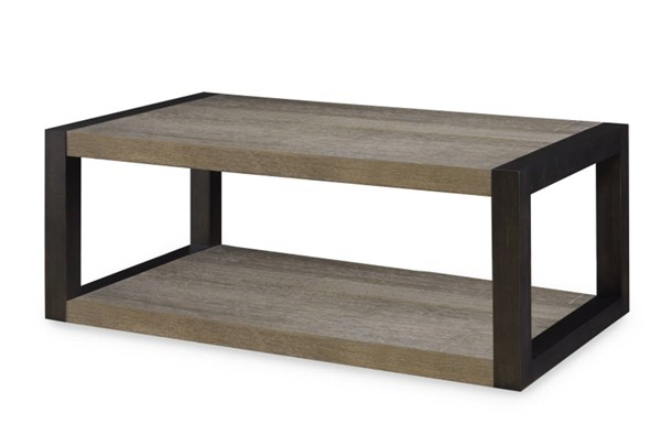 Helix Contemporary Charcoal Wood Rectangular Cocktail Table LGC-4660-503