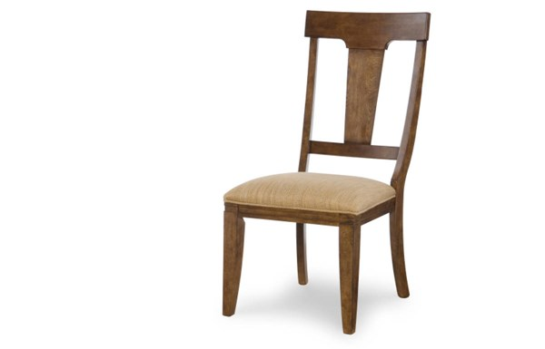 2 River Run Transitional Bourbon Wood Splat Back Side Chairs LGC-4740-140KD