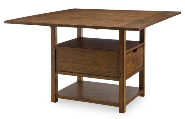 River Run Transitional Bourbon Wood Pub Table LGC-4740-940-BAR