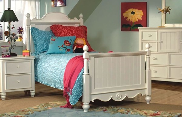 Summer Breeze Cottage Off White Kids Beds LGC-481-4103-BEDS